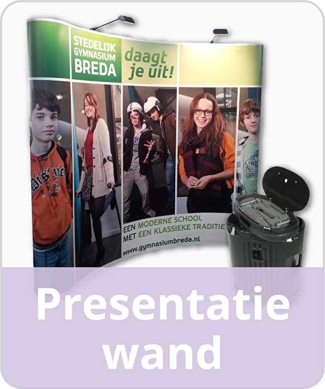 Presentatie wand Pop-up