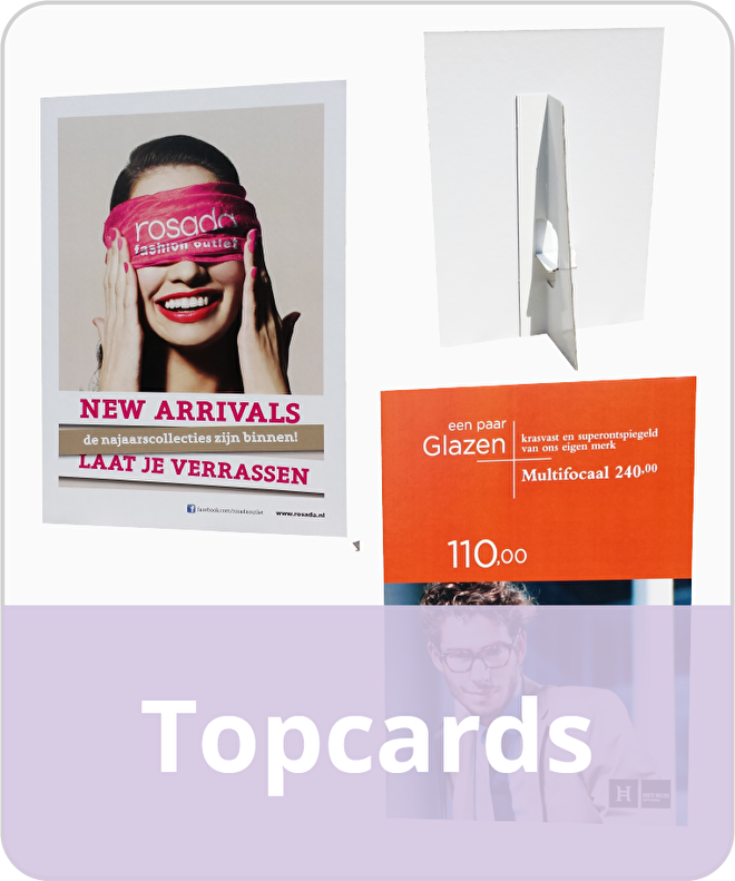 Topcards Displays Showcards