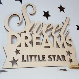 Houten tekst 'Sweet Dreams'