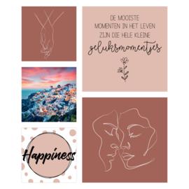 Vierkant 'Happiness'
