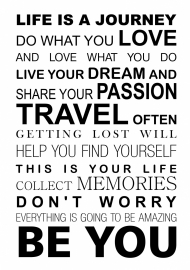Muursticker Life is a journey