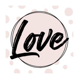 Vierkant 'Love'