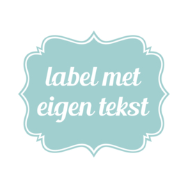 Label vinylsticker Eigen Tekst