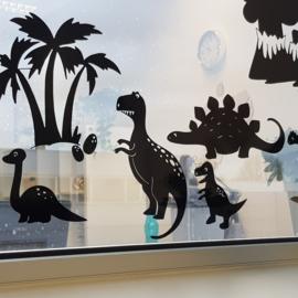 Raamsticker Dino's, HERBRUIKBAAR