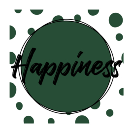 Vierkant 'Happiness'