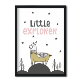 Poster 'Little Explorer - girls'