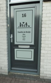 Glasfoliesticker / Raamsticker Familie Iconen