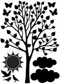 Uitbreidingsset stickers Lente, HERBRUIKBAAR