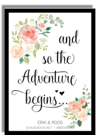 Poster 'And so the Adventure begins' - gepersonaliseerd
