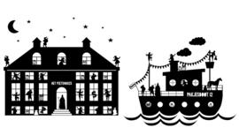 COMBI-DEAL 'Pietenhuis XL' en 'Stoomboot'- HERBRUIKBAAR