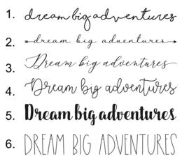 Muurtekst 'Dream big Adventures' - 55 cm