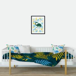 Poster 'Dino - Wanneer ik ga slapen' - A4