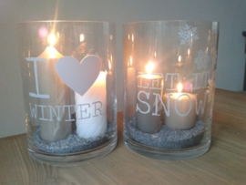Tekststicker I love Winter, Let it Snow 2