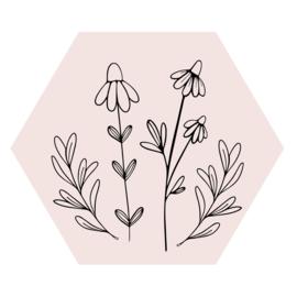 Zeshoek 'Veldbloemen 2'