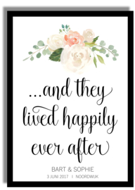 Poster 'And they lived happily ever after' - gepersonaliseerd