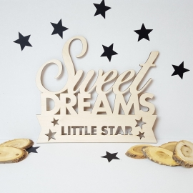 Houten tekst 'Sweet Dreams'