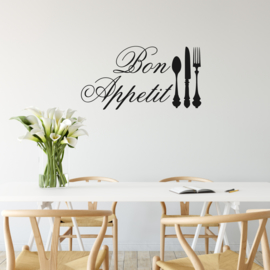 Muursticker Bon Appetit -kort-