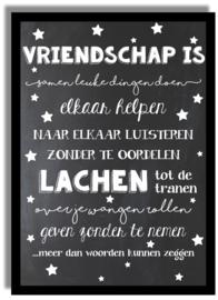 Poster 'Vriendschap is...' - krijtbord 21 X 29,7 cm A4