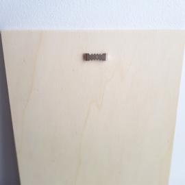 Houten Geboortebord 'Egels', 20 x 30 cm