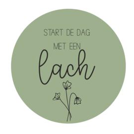 Cirkel 'Start de dag met een lach'