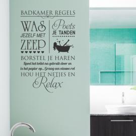 Muursticker Badkamer Regels 2