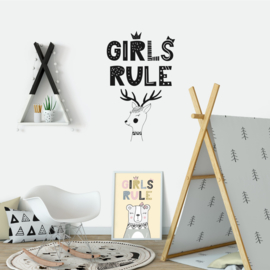 Muursticker 'Girls Rule'
