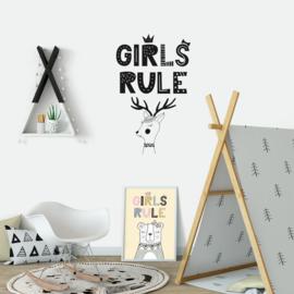 Muursticker 'Girls Rule'