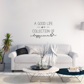 Muursticker 'A good life is a collection'