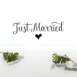 Muursticker 'Just Married'
