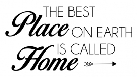 Tekststicker The best place, gratis bij besteding vanaf € 35,-