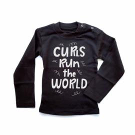 T-shirt Curls run the world