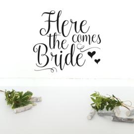 Muursticker 'Here comes the Bride'