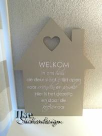 Tekststicker Welkom in ons huis - small