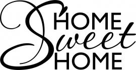 Tekststicker Home Sweet Home, gratis bij besteding vanaf € 25,-