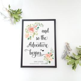 Poster 'And so the Adventure begins' - gepersonaliseerd