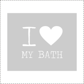 Glasfoliesticker I love my Bath - band