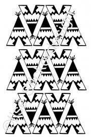 Muursticker 'Tipi ' - 15 stuks