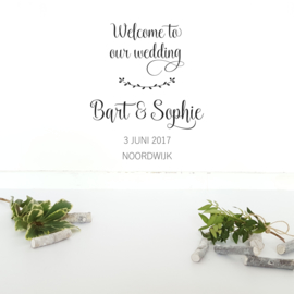 Muursticker 'Welcome to our wedding'