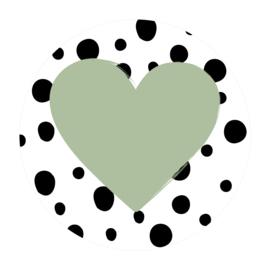 Cirkel 'Hartje met dots'