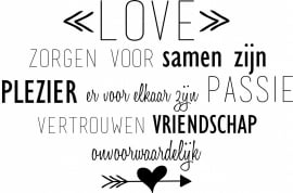 Muursticker 'Love'