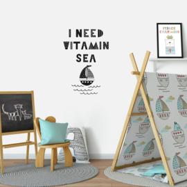 Muursticker 'I need vitamin Sea'
