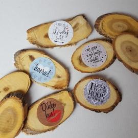 Kleine stickers 'I wish you a lovely day' 12 stuks