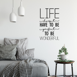 Muursticker 'Life doesn't have to be perfect'