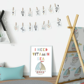 Poster 'I need vitamin sea'