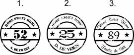 Stempelsticker familienaam en huisnummer