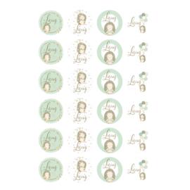 Etiket 'Egels' - zachtgroen -24 stuks