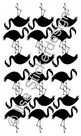 Muursticker 'Flamingo's' - 18 stuks