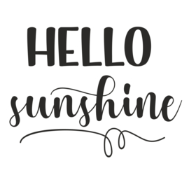 Muursticker 'Hello Sunshine'