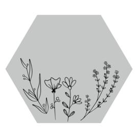 Zeshoek 'Veldbloemen'