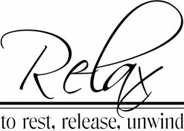 Muursticker Relax to rest, release, unwind